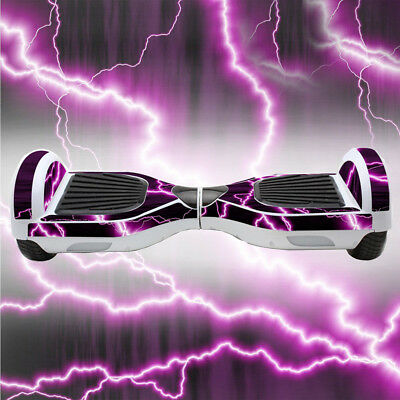 "For 6.5"" Self Balancing Hover Board Scooter Hoverboard SKIN CASE DECAL Purple"