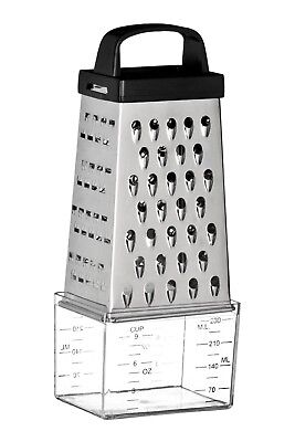 Premier Housewares 4 Sided Grater With Compartment Stainless Steel Top Quality