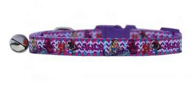 "LILAC  ""ALICE IN WONDERLAND     ""  safety kitten cat collar  3 sizes"