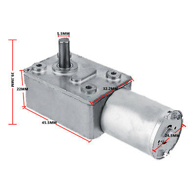 Square DC 12V High Torque Turbo Worm Geared Motor Reduction Motor Reversible
