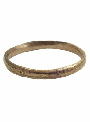 ANCIENT VIKING WEDDING BAND  C.900 AD Size 11 /4 (21mm) (PWR1115)