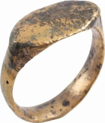 ANCIENT VIKING SOLID BAND RING C.850-1050 A.D. Size 9 1/2 (JF38)