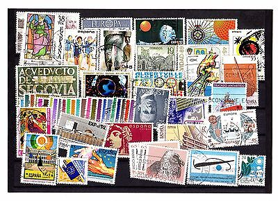 Spain ESPANA Modern Stamps USED Postmarks UNHINGED Loose ASSORTED SUBJECTS