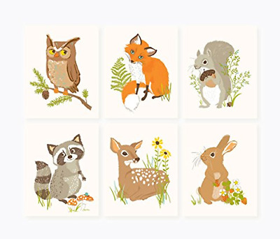 Sea Urchin Studio Print Set, Woodland Forest Friends