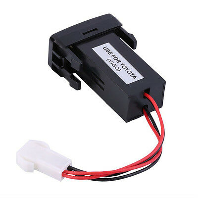 Car Charger 2USB Port Socket Fuse Phone Charger for Toyota Nissan Mazda Honda FG