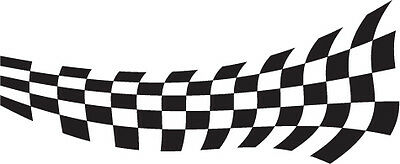 2 x chequered flag vinyl stickers graphics car side decals fun racing bg28