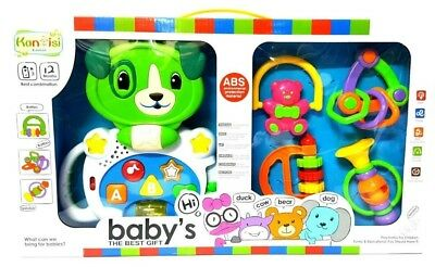 8pc Baby Rattles, learning & teether set  Baby Toy Baby Activity Toys 3 Months +