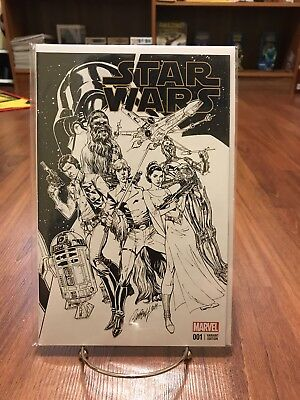 Marvel Now Star Wars #1 J Scott Campbell Convention Exclusive B&W Sketch Variant