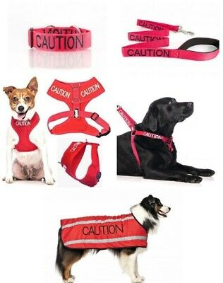 Colour Coded Dog Warning Awareness - CAUTION Harnesses Leads Collars Coats