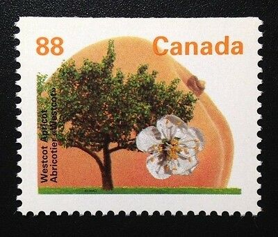 Canada #1373as Top PP GT4 13.1 MNH, Westcot Apricot Tree Booklet Stamp 1994