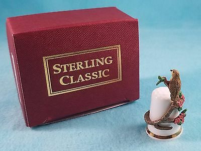 STERLING CLASSIC - Bird Collection - Song Thrush - Thimble BOX New RARE