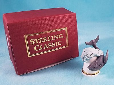 STERLING CLASSIC - Wild Animals - Whale - Thimble BOX New RARE