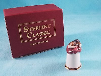 STERLING CLASSIC - Dogs Collection - Puppy Knitting - Thimble BOX New RARE