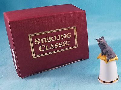STERLING CLASSIC - Cats Collection - Blue Persian - Thimble BOX New RARE