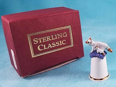 STERLING CLASSIC - Cats Collection - Turkish Cat - Thimble BOX New RARE