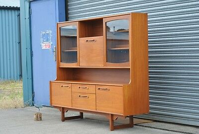 Vintage Retro Teak Veneer Dresser Sideboard Display Drinks Cabinet Bookcase.