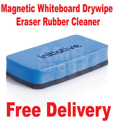 Magnetic Eraser Whiteboard Drywipe Rubber Cleaner Premium Quality Dry Wipe