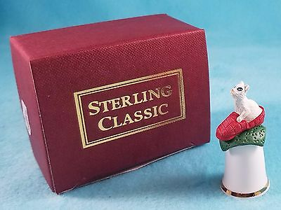 STERLING CLASSIC - Cats Collection - Slipper Cat - Thimble