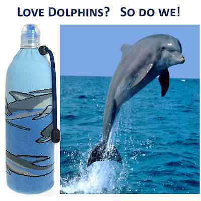 Dolphins ~ Insulated Moisture-Wicking Foldable Wine Beer Water Bottle Koozie