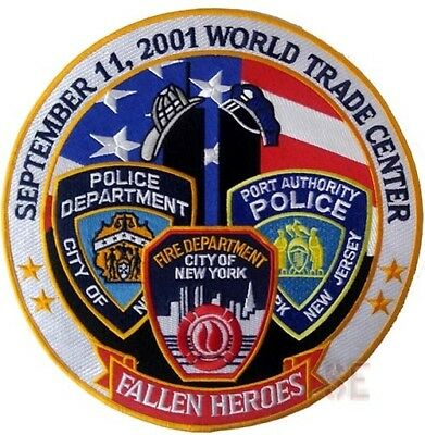 Firefighter Fire Rescue Emergency Police HEROES Back Patch World Trade Center 10
