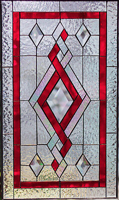 Tiffany Beveled Stained Glass Hanging Window Panel Suncatcher