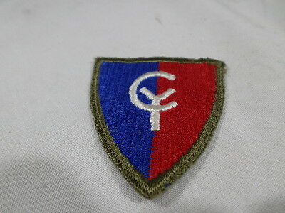 WWII VINTAGE US Army 38th Infantry Division Patch Green Back