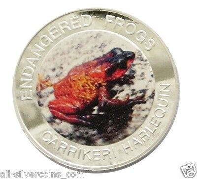 Malawi Endangered Frogs~Carrikeri Harlequin Frog 10 Kwacha 2010 Proof Color Coin