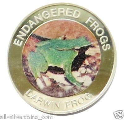 Malawi Endangered Frogs~Darwin's Frog 10 Kwacha 2010 Proof Colored Coin
