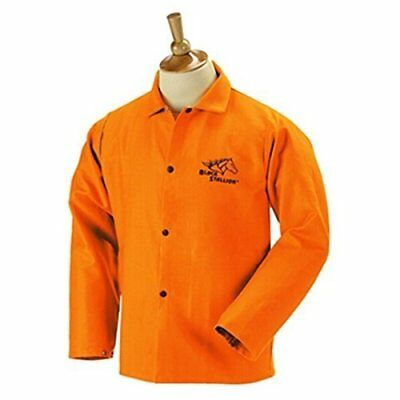 "Black Stallion FO9-30C 30"" 9oz. Orange FR Cotton Welding Jacket, 3X-La"