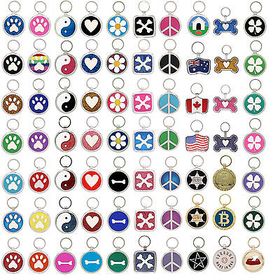 Pet Tag Dog Tag Paw Print Pet Tags Dog ID Tag Cat collar engraved personalized