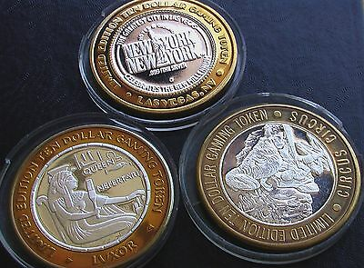 Casino Chips.  0.999 Fine Silver.  38 Chips.  Incl 2 Chips @ 24Kt Gold.