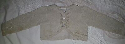 baby girls stix and stones gold woen cardigan beautiful delicate sz 1