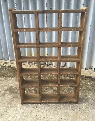 The Shoe Rack! Industrial Up-Cycled Pigeon Hole Unit