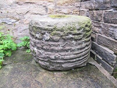 Antique Large Millstone (Crusher Stone), Yorkshire Stone, Garden Water Feature