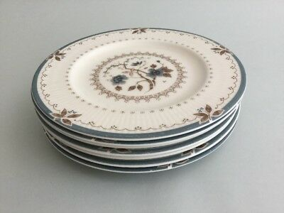 """Royal Doulton OLD COLONY TC1005 6 5/8"""" Side / Bread & Butter / Tea Plates X 7"""