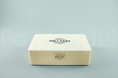 Roll Tray Spliff Box Rolltray Spliffbox Big Wooden Rolling BOX
