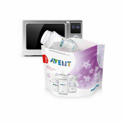 Philips Avent Microwave Steam Sterilizer Bags BPA-Free - NO TAXES