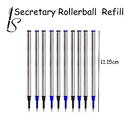 Euro Compatible Rollerball Pen Refill Ink - Black Blue