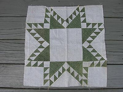 ~ Beautifully Pieced Feathered Star Quilt Block ~