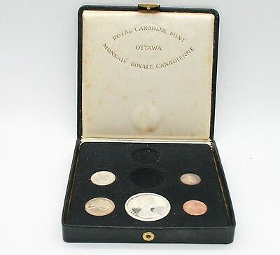 1967 Royal Canadian Mint 5 coin set, 80% silver - no gold coin & 50 CENTS