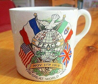 Antique WWI Peace Cup Nov 11th 1918 The Great World War Please Note Not 1919