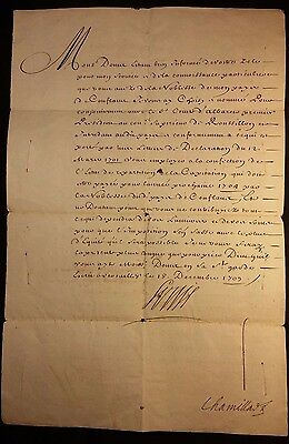 KING LOUIS XIV AUTOGRAPH - 1703 - Appointment to the Earl of Albaret