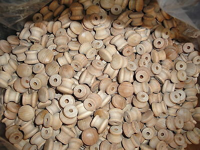 100 MINI WOOD SHAKER KNOBS Unfinished Wooden Drawer pulls Handles Birch