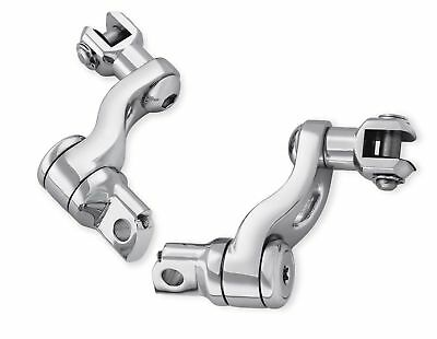 Passenger footpeg mount kit is chrome and for male pegs. Fits FLT 1993-UP