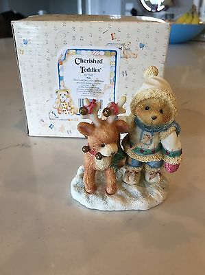 "Cherished Teddies - ""near And Dear For Christmas"" Figurine - #617245 1994"