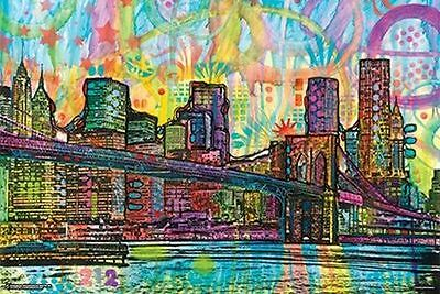 BROOKLYN BRIDGE - RUSSO ART POSTER 24x36 - NEW YORK CITY NYC 11185