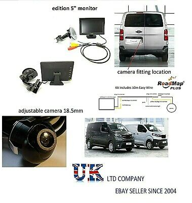 toyota proace 5 inch monitor Rear reversing camera kit number plate parking