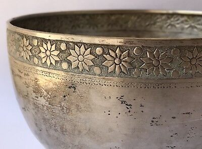 HIGH QUALITY Persian Islamic Hand Engraved Silver Hand Chased Bowl