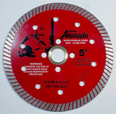 "Diarex Assassin Super Premium 5"" Turbo Blade - Dry Cutting"