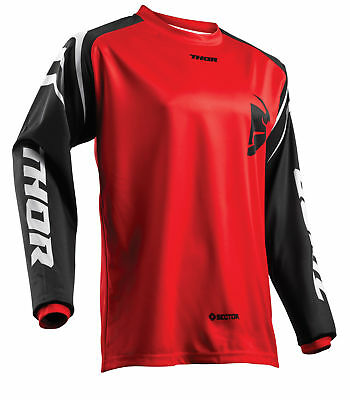 THOR MX Motocross Men's 2018 SECTOR ZONES Jersey (Red) Choose Size